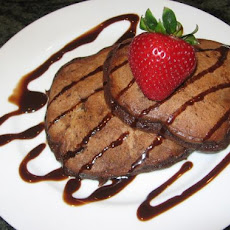 Chocolate Griddle Cakes With Chocolate Sauce