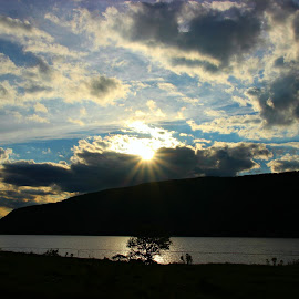 Sunset ... by Charlotte MD McLellan - Novices Only Landscapes ( clouds, mountains, sunset, skylines, cape breton )