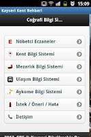 Screenshot of Kayseri Kent Rehberi