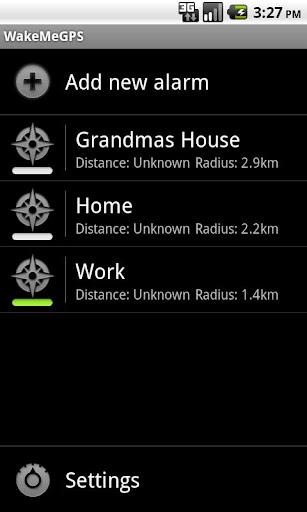 Wake me GPS