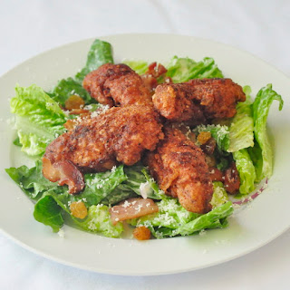 Fried Chicken Caesar Salad