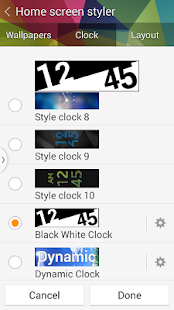 Gear Fit Black White Clock - screenshot