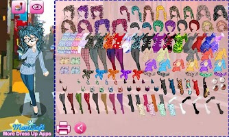 Screenshot of Dressup Peach Girl Lite