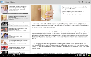Screenshot of Health News