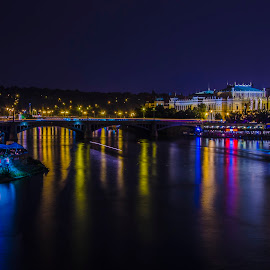 Games of Lights by Ionut Zarnescu - Landscapes Travel ( travel, prague, nightscape )
