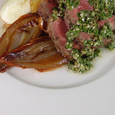 Roast Sirloin Of Beef With Baked Shallots And Garlic