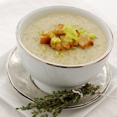 Celery Soup with Blue Cheese