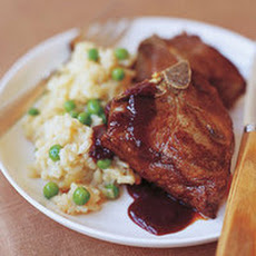 Black Cherry and Black Pepper Lamb Chops with Sweet Pea Risotto