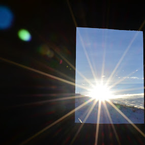 Window Framed Sun by Selah Madland - Buildings & Architecture Homes ( window, cold, bright, framed, sun )