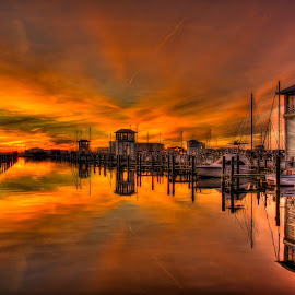 Gulfport Sunset by Jim Howton - Landscapes Sunsets & Sunrises ( gulfport, harbor, sunset, mississippi, jones park )