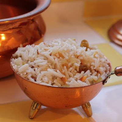 Golden Vanilla Rice Pilaf