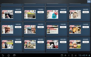Screenshot of Hürriyet Tablet Gazetesi