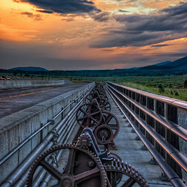 Gear Up Too by Dave Sansom - Artistic Objects Industrial Objects ( dawn, dam, jackson lake, grand tetons, gears )