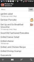 Screenshot of Food Planner