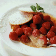 Vanilla Custard with Strawberries