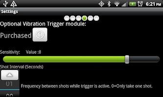 Screenshot of Camera Trigger Shot