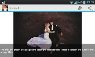 Screenshot of Wedding Photo Poses