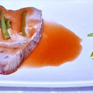 TUNA STEAK WITH SWEET AND SOUR SAUCE