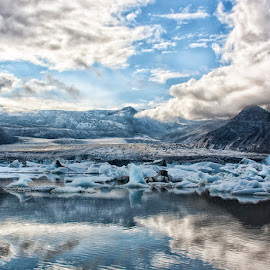 Icelandic Beauty by Betsy Wilson - Landscapes Mountains & Hills ( glacier, mountains, iceland, frigid, cold, blue, ice, freezing )