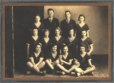 Charlsie Basketball Team 1933 focus on Ivon