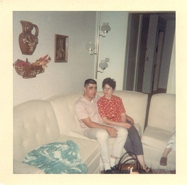 Dad and Mom Christmas Eve 1966