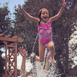 Remember when you could fly by Kelley Ahr - Babies & Children Children Candids ( september 2014, pool, labor day )