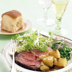 Rib Roast with Rosemary-Garlic Potatoes