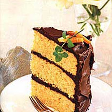 Orange-Almond Cake with Chocolate Icing