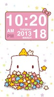 Screenshot of Pink Kitty bow Clock Widget