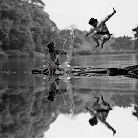 by DODY KUSUMA  - Black & White Sports ( water, person, b&w, man )