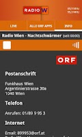 Screenshot of ORF Radio Wien