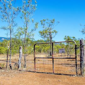 Private property by Angelica Glen - City,  Street & Park  Neighborhoods ( farm, field, paddock, trees, property, private, gate )