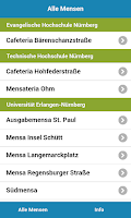 Screenshot of Mensa Erlangen/Nürnberg