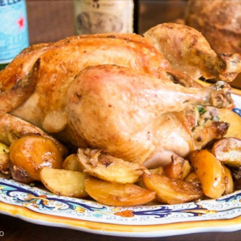 Angelina's Pollo arrosto ripieno (Roast Chicken with Sausage Stuffing)