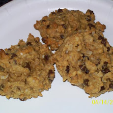 Pb 'n Oat Chip Cookies