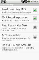 Screenshot of Dial2Do Hands-free Assistant