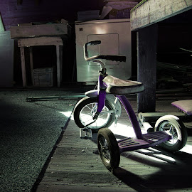 Lost Memories by Dustin White - Artistic Objects Still Life ( bike, tricycle, still life, forgotten, storage )