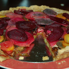 Beet Tart with Caramelized Onions and Goat Cheese