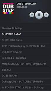 Dubstep radio stations - screenshot