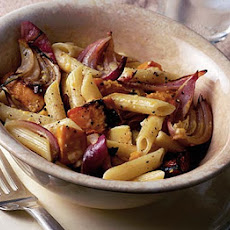 Roasted Squash & Red Onion Pasta