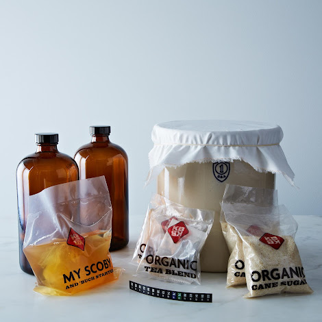 1 Gallon Ceramic Deluxe Kombucha Brewing Kit with Cloth Cover