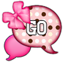 GO SMS - Pink Dot Bows icon