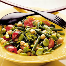 Two Bean, Chickpea & Tomato Salad