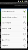 Screenshot of Brick-Block Calc Pro Select
