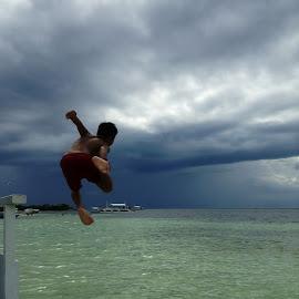 A Great Leap! by Dick Shia - Babies & Children Children Candids