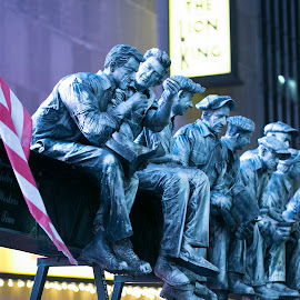 Iron Workers,Time Square, New York by Cary Chu - Buildings & Architecture Statues & Monuments (  )
