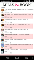 Screenshot of Mills & Boon books