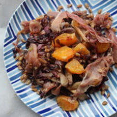 Make-Ahead Farro with Radicchio, Prosciutto and Orange