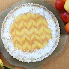 Ginger Lemon & Bourbon Blood Orange Tart with Cardamom Almond Crust