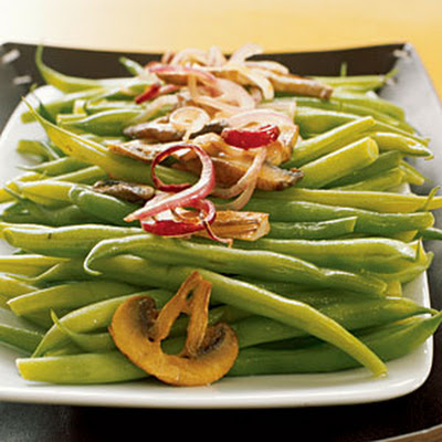 Sautéed Green Beans with Wild Mushrooms